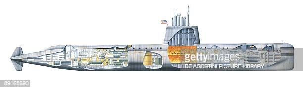 USA Nautilus submarine illustration