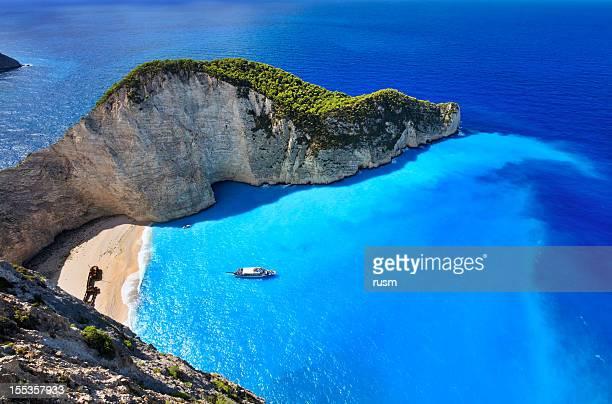 Navagio Beach, Zante island, Grèce