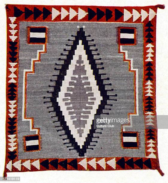 Navaho blanket woven by the Native Americans of New Mexico in the 1920 's Indian American Indians