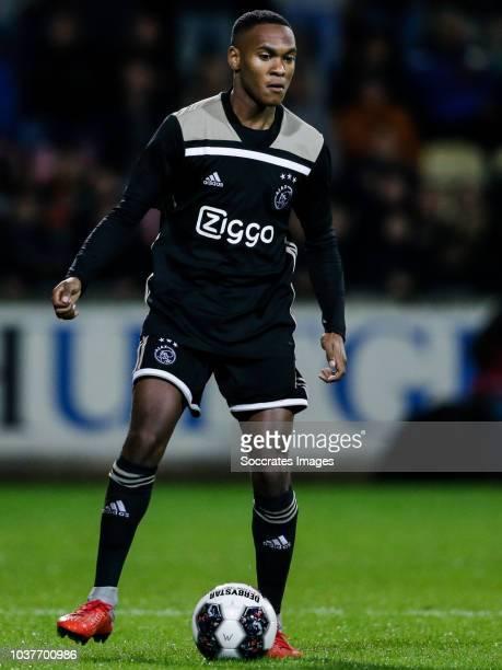 Navajo Bakboord of Ajax U23 during the Dutch Keuken Kampioen Divisie match between Go Ahead Eagles v Ajax U23 at the De Adelaarshorst on September 21...