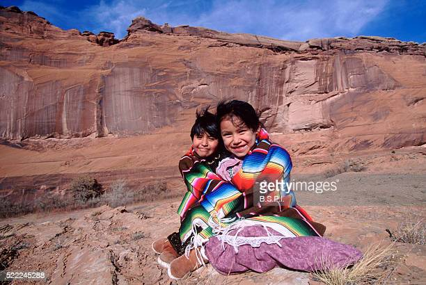 Navajo children - Canyon de Chelly, AZ