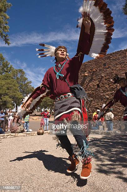 Navajo eagle dancers at Grand Canyon Village.