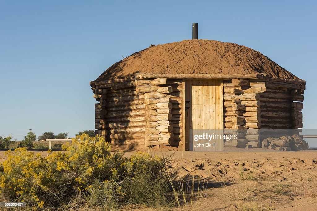 Calisphere: Navajo hogan (mud hut)