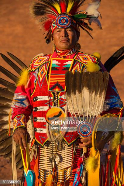 Navajo man wearing traditional clothes