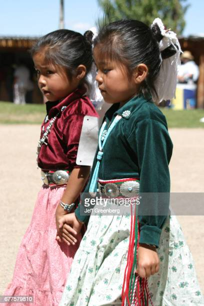 Navajo Native American girls at the New Mexico State Fair