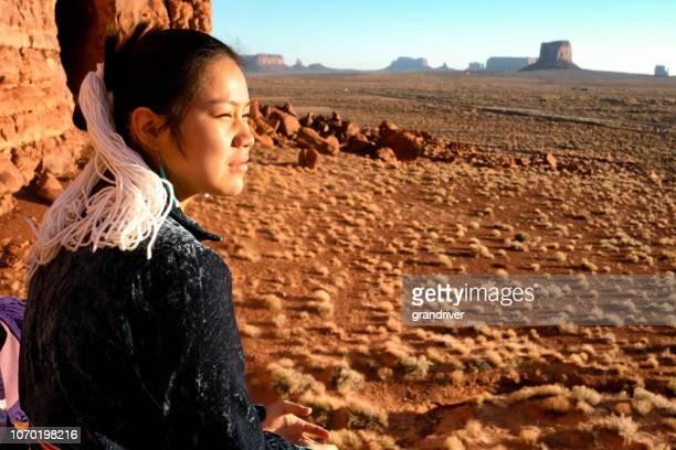 Navajo Native American Teenage Girl Outdoor Portrait