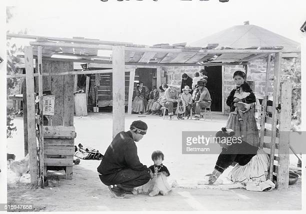 1939 Navajo Reservation A typical scene at home of a Navajo Reservation