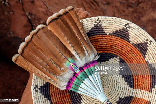 navajo wedding basket stock photo - apache indian stock pictures, royalty-free photos & images