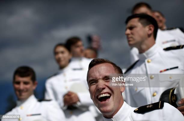 S Naval Academy graduates wait to begin their procession into NavyMarine Corps Memorial Stadium during graduation ceremonies at the US Naval Academy...