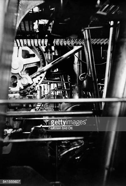 Battleship Engine Room: Machinery At Engine Room Of A Ship
