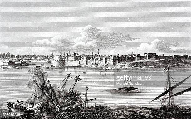 A naval battle during the Siege of Tripoli in 1551 when the Ottomans besieged and vanquished the Knights of Malta in the fortress of Tripoli modern...