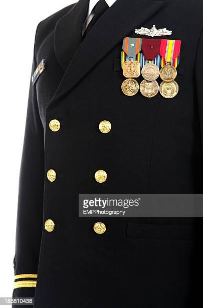naval vestido com uniforme militar medalhas - uniforme militar - fotografias e filmes do acervo