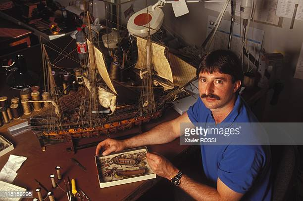 Naval models at the Navy Museum in Paris France in July 1995 Jean Michel Letenoux model maker