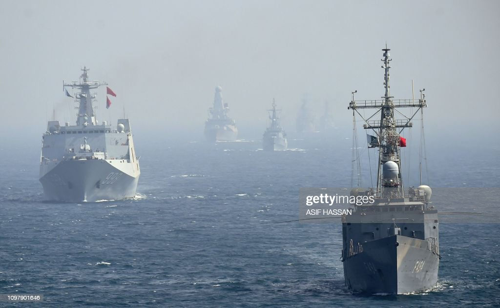 Naval ships from Turkey and China take part in the multinational