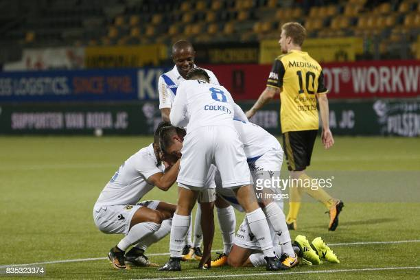 Navarone Foor of Vitesse Thulani Serero of Vitesse Guram Kashia of Vitesse Charlie Colkett of Vitesse Bryan Linssen of Vitesse Simon Gustafson of...