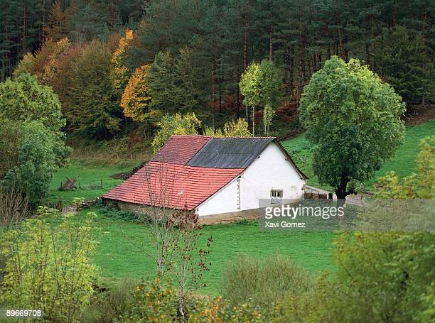 Navarre Pyrenees Spain House in the forest