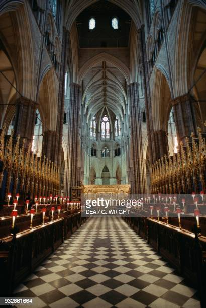 Nave and altar, Westminster Abbey , London, England, United Kingdom.