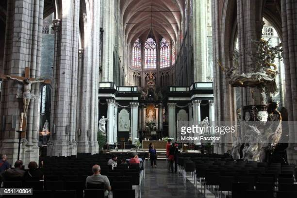 nave at st. baafs cathedral - 東フランダース ストックフォトと画像