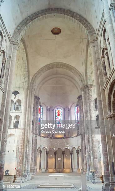 Nave interior at Great St. Martin Church, Cologne - Germany