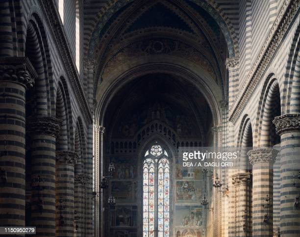 Nave of Orvieto cathedral, Umbria. Italy, 13th-19th century.