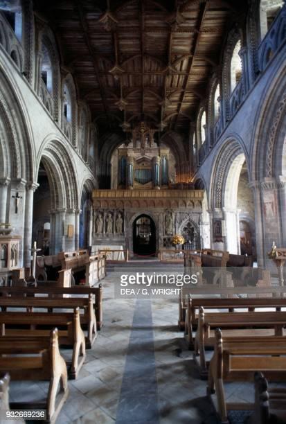 Nave of St David's Cathedral Saint David's Wales United Kingdom 6th century