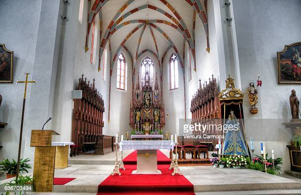 Nave of St. Jakob's Church in Bamberg (Bavaria, Germany)