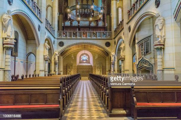 nave of the all saints' church, lutherstadt wittenberg - germany - lutherstadt wittenberg stock pictures, royalty-free photos & images