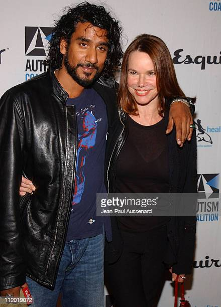 Naveen Andrews and Barbara Hershey during Endless Summer Party Hosted by Esquire House Los Angeles to Benefit The Autism Coalition and Surfers...