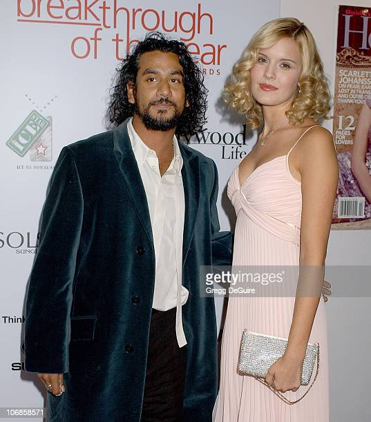 Naveen Andrews and Maggie Grace during Hollywood Life Magazine's 5th Annual Breakthrough of the Year Awards Inside Arrivals at Music Box at The Fonda...