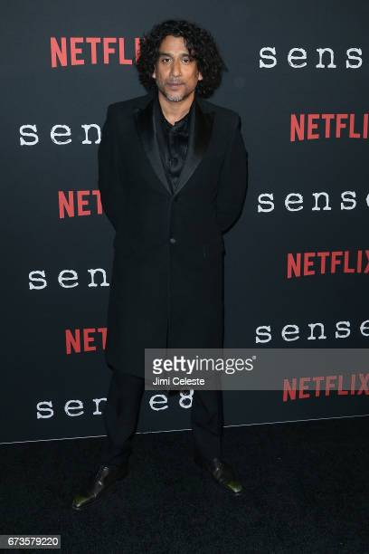 Naveen Andrews attend the Season 2 Premiere of Netflix's 'Sense8' at AMC Lincoln Square Theater on April 26 2017 in New York City