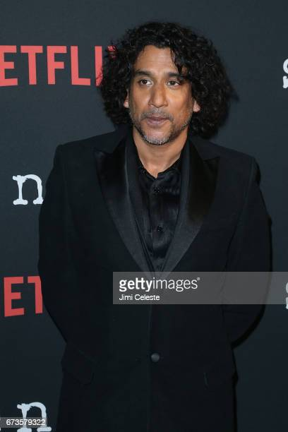 Naveen Andrews attend the Season 2 Premiere of Netflix's Sense8 at AMC Lincoln Square Theater on April 26 2017 in New York City