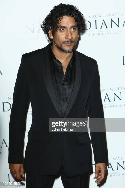 Naveen Andrews attends 'Diana' Paris premiere at Cinema UGC Normandie on September 6 2013 in Paris France