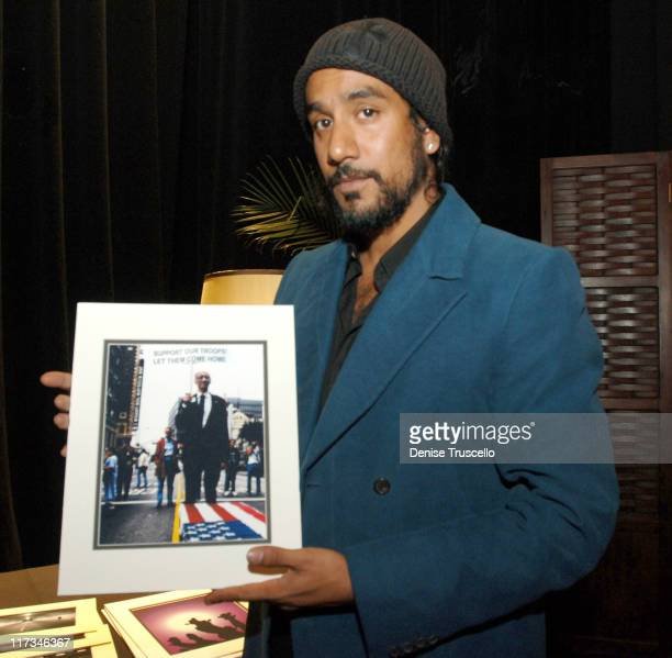 Naveen Andrews during The Flavia Fusion Retreat by Backstage Creations at the 2005 Billboard Music Awards Day 2 at MGM in Las Vegas NV United States