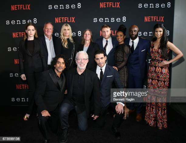 Naveen Andrews Terrence Mann Miguel Angel Silvestre Jamie Clayton Grant Hill Daryl Hannah Max Riemelt Freema Agyeman Toby Onwumere Tina Desai pose...