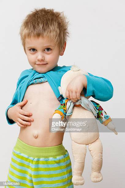 navel gazing - male belly button stock photos and pictures