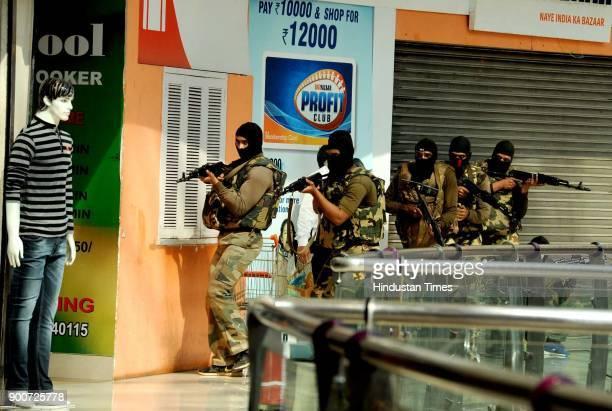 Navi Mumbai Police organised mock drill at Raghuleela Mall Vashi in on January 2 2018 Navi Mumbai India