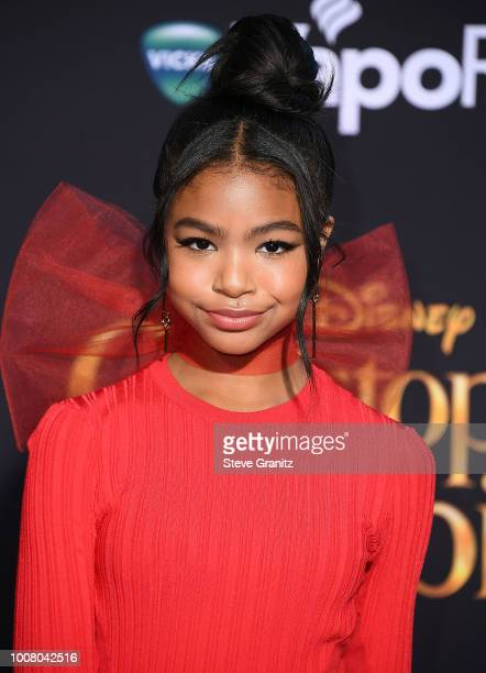 Navia Robinson arrives at the Premiere Of Disney's Christopher Robin at Walt Disney Studios on July 30 2018 in Burbank California