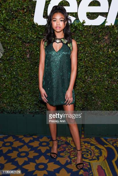 Navia Robinson attends Teen Vogue's 2019 Young Hollywood Party Presented By Snap at Los Angeles Theatre on February 15 2019 in Los Angeles California