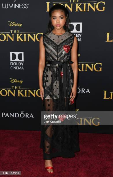 Navia Robinson attends the Premiere Of Disney's The Lion King at Dolby Theatre on July 09 2019 in Hollywood California