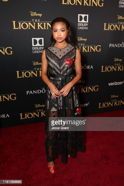"""Navia Robinson attends the World Premiere of Disney's """"THE LION KING"""" at the Dolby Theatre on July 09, 2019 in Hollywood, California."""