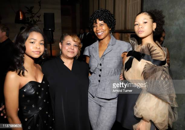Navia Robinson , Storm Reid and guests attend Netflix's NAACP Image Awards Nominee Celebration at Hinoki & The Bird on March 22, 2019 in Los Angeles,...