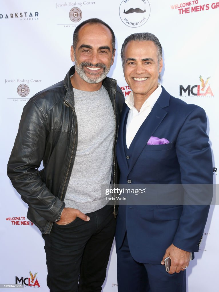 Navid Negahban (L) and Ali Saam attend the premiere of Dark Star Pictures' 'Welcome to the Men's Group' at Ahrya Fine Arts Theater on May 16, 2018 in Beverly Hills, California.