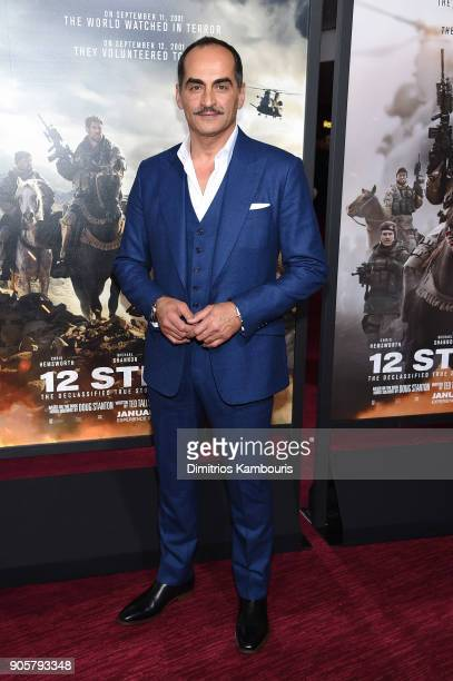 Navid Negahban attends the world premiere of '12 Strong' at Jazz at Lincoln Center on January 16 2018 in New York City