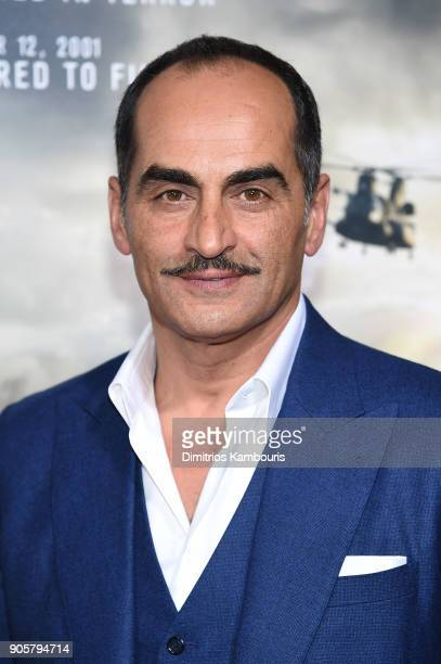 Navid Negahban attends the world premiere of 12 Strong at Jazz at Lincoln Center on January 16 2018 in New York City