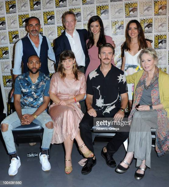 Navid Negahban Bill Irwin Amber Midthunder and Aubrey Plaza Jeremie Harris Rachel Keller Dan Stevens and Jean Smart attend the 'Legion' discussion...