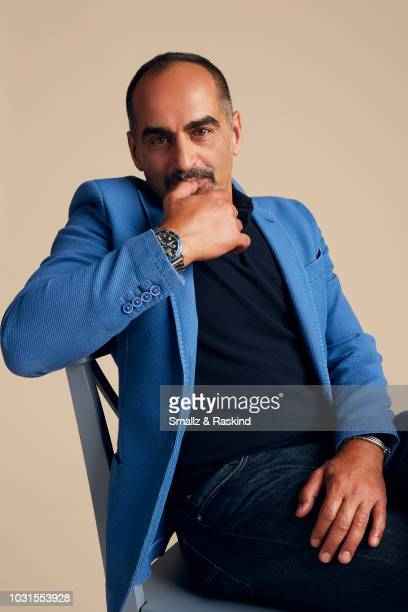 Navid Negahban from FX's 'Legion' poses for a portrait at the Getty Images Portrait Studio powered by Pizza Hut at San Diego 2018 Comic Con at Andaz...