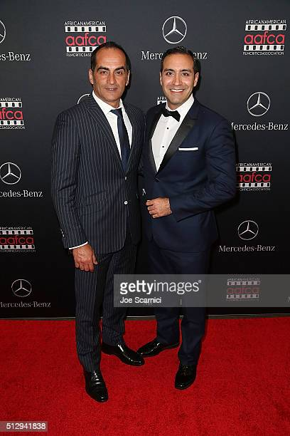 Navid Neghaban and Alain Wasnhevsky arrive at the MercedesBenz and African American Film Critics Association Oscar viewing party at Four Seasons...