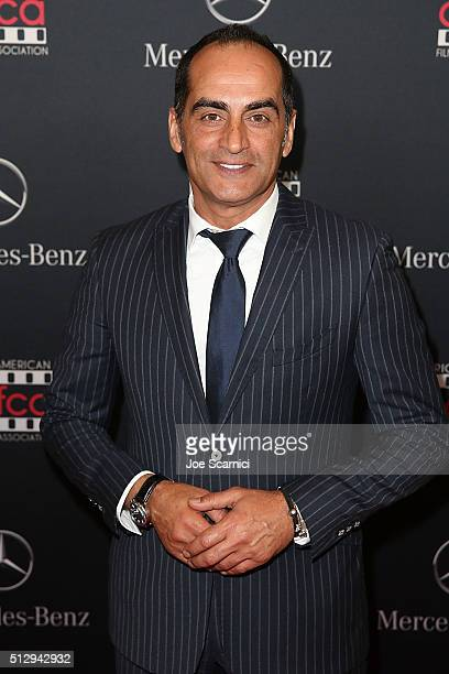 Navid Neghaban arrives at the MercedesBenz and African American Film Critics Association Oscar viewing party at Four Seasons Hotel Beverly Hills on...