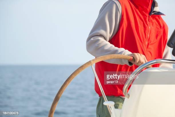 navigating a yacht