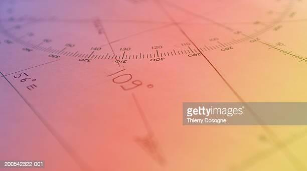 Navigation chart, close-up